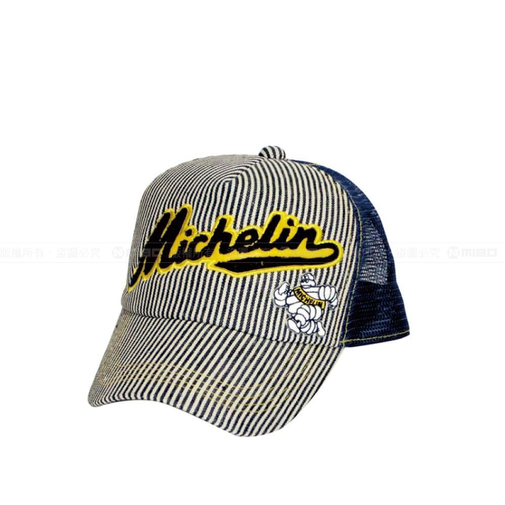 日本潮流 條紋帽 / Mesh Cap / Michelin / Navy【日本原裝進口】